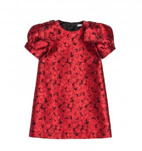 rochie roşie jaquard dolce and gabbana