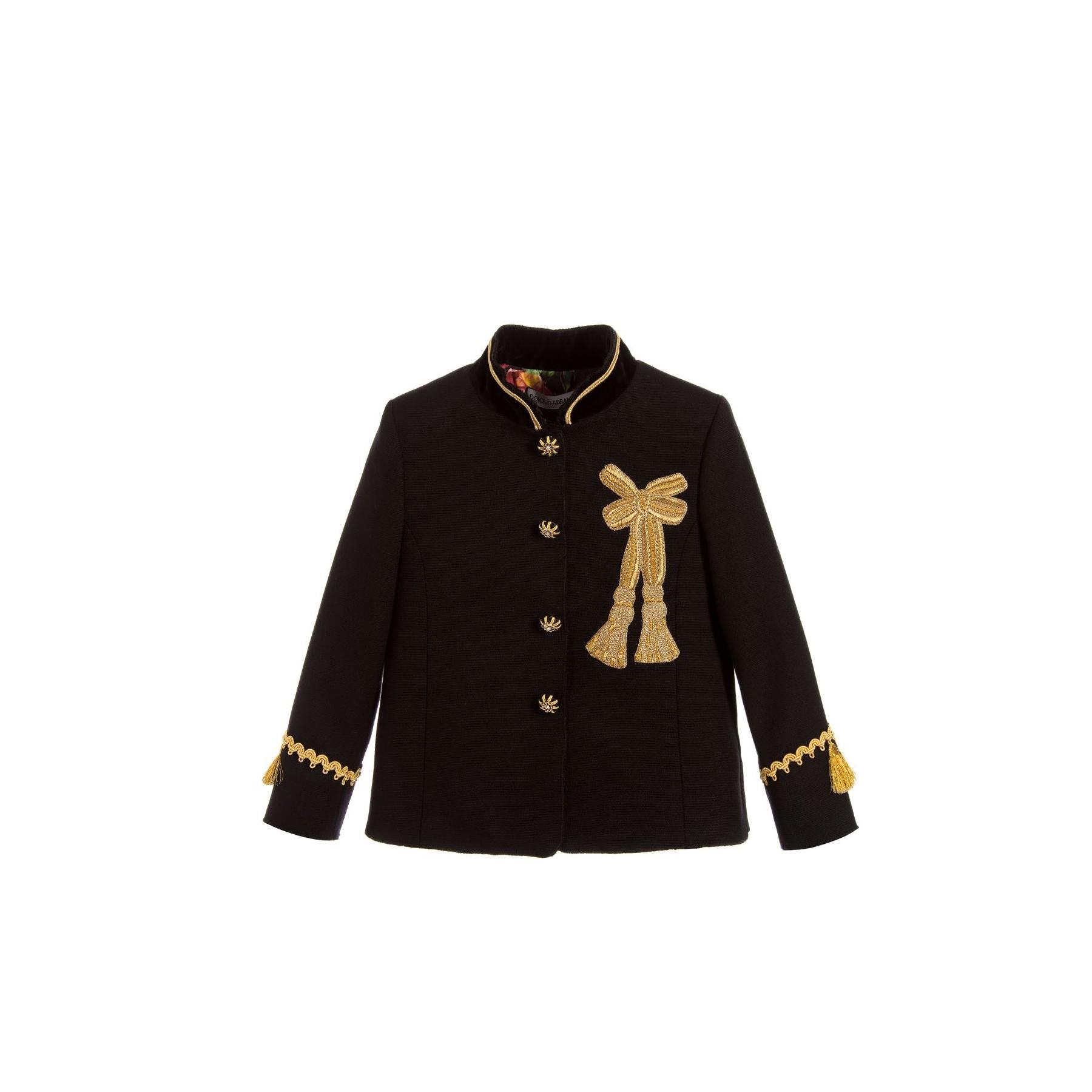 jachetă neagră din lână dolce and gabbana