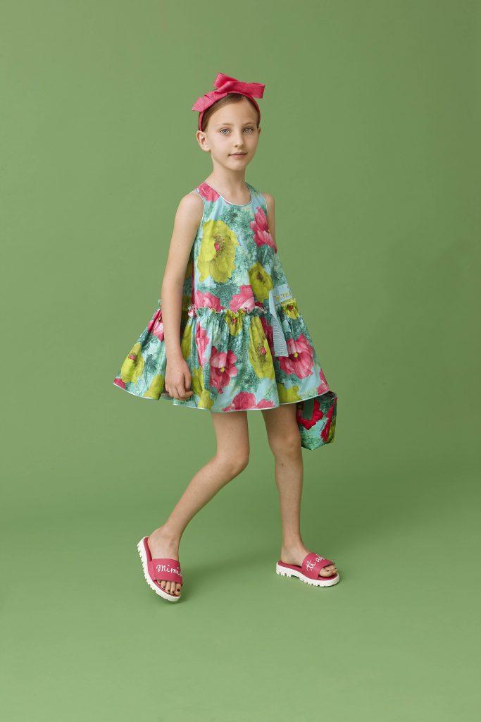 rochie-verde-multicolora